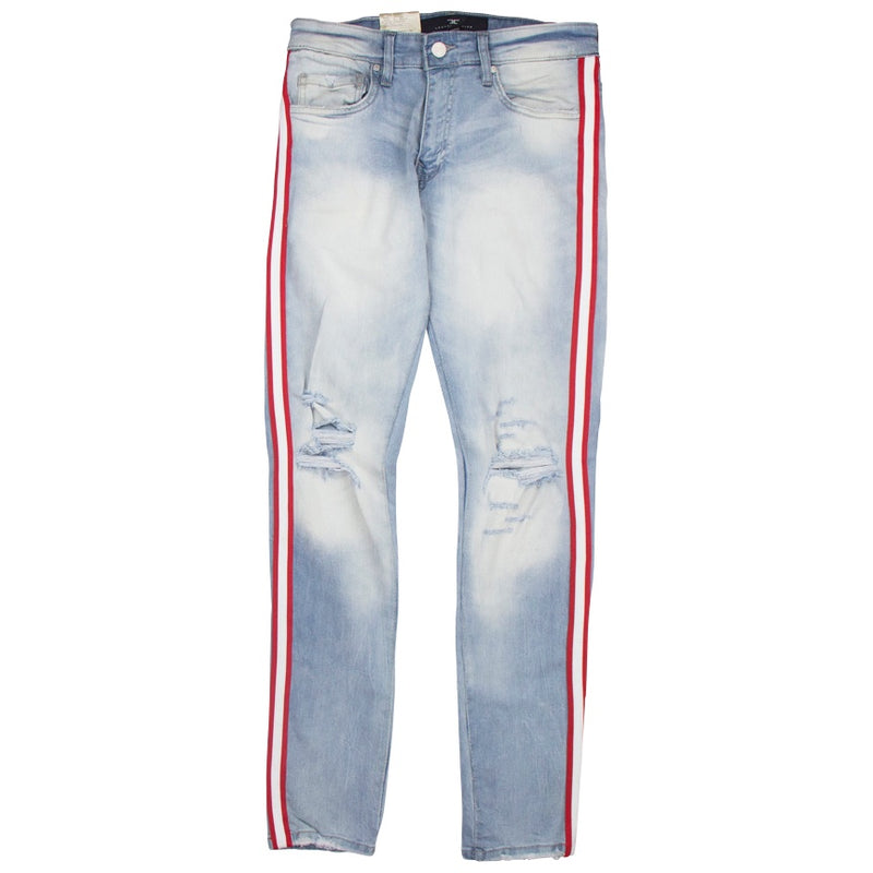 Jordan Craig Sean - F1 Striped Ice Denim Blue Jeans