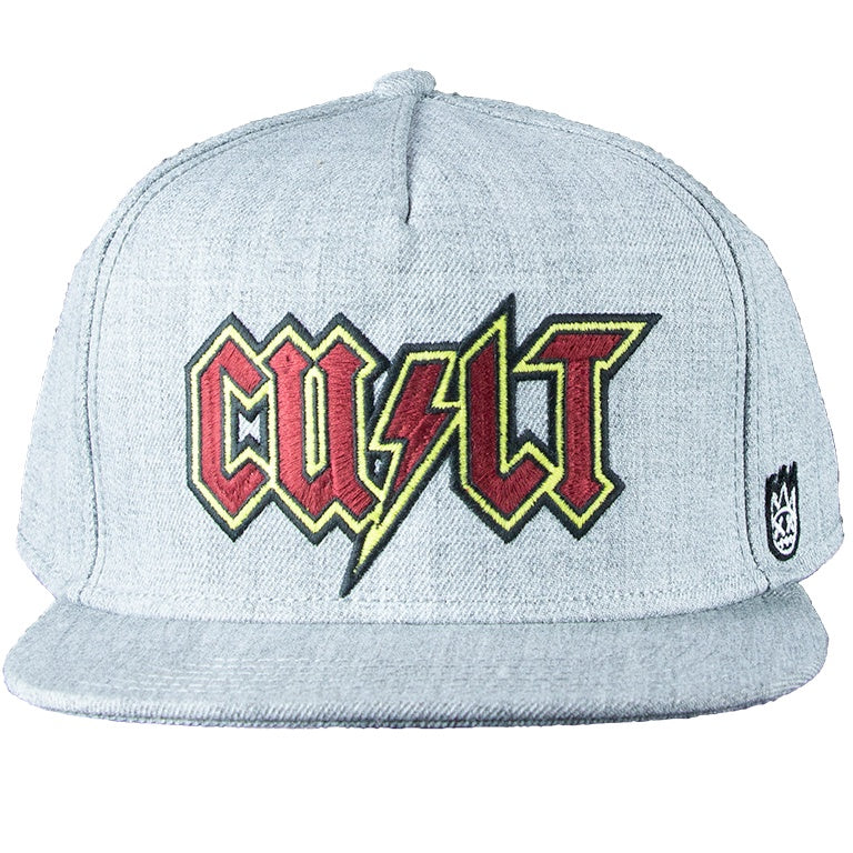 Cult of Individuality Grey AC/DC Flat Visor Cap