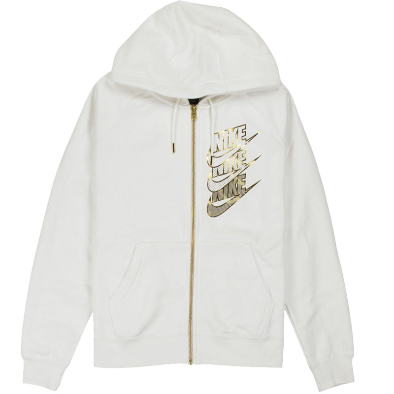 Nike Sportswear Women's Shine Full-Zip White Hoodie