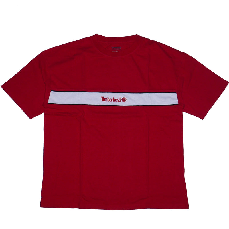 Timberland Men's Red YCC Stripe Box Crew