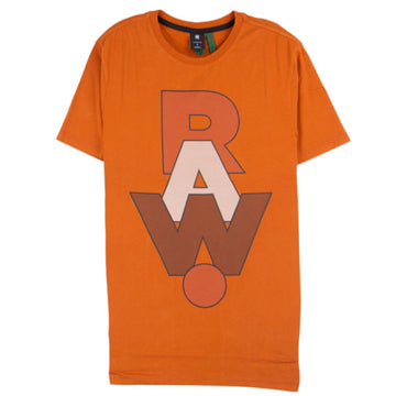 G-Star RAW. Graphic Orange T-Shirt
