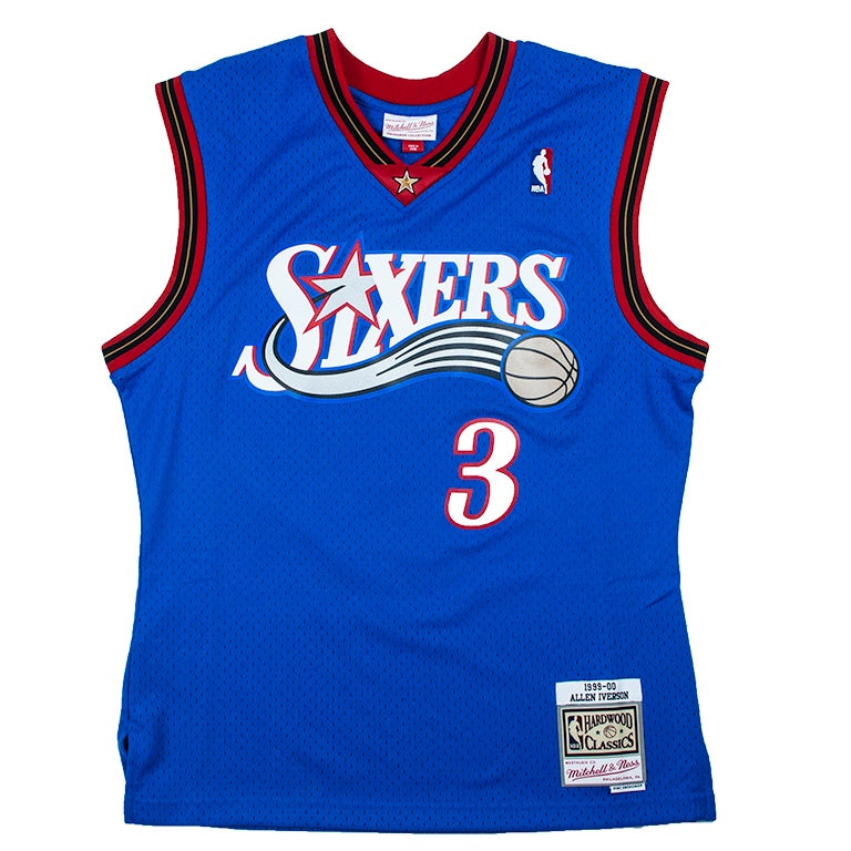new products fddbd 857a8 Mitchell & Ness Swingman Alternate Jersey Philadelphia 76ers Allen Iverson