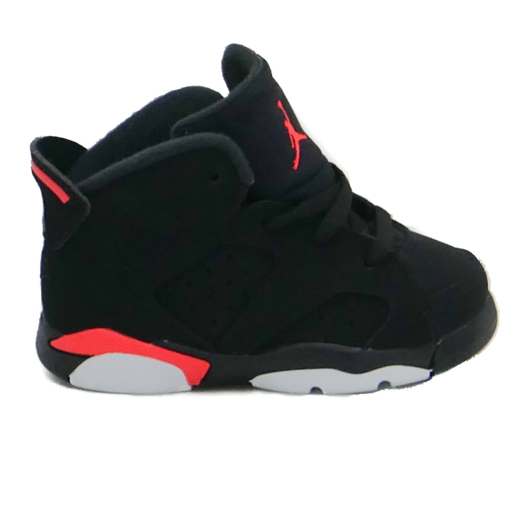 Air Jordan Kids Retro 6 (TD) Black Infrared