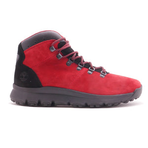 Timberland Men's World Hiker Mid Boot Red Seude