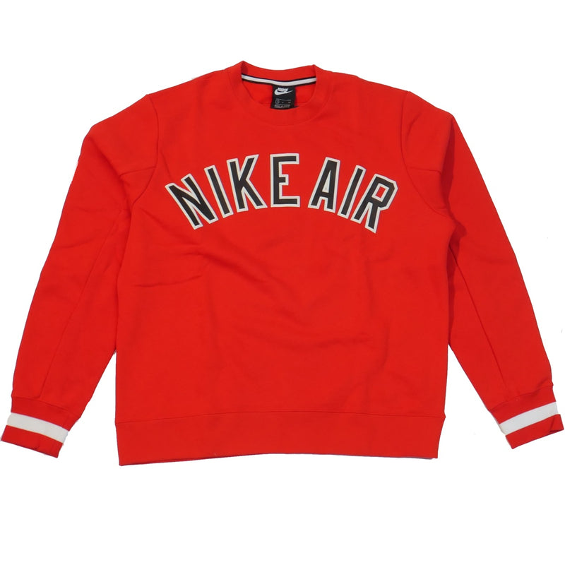 Nike Men's NSW Red Throwback Air Crew Sweatshirt