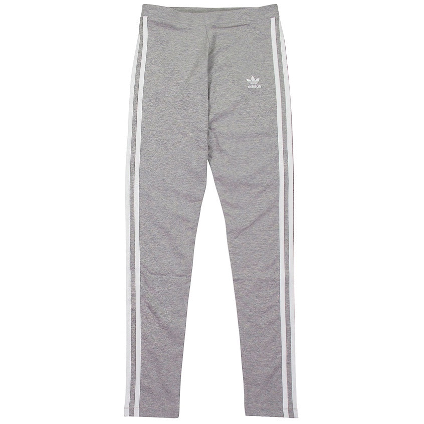 Adidas Women's Grey 3-Stripe Tights