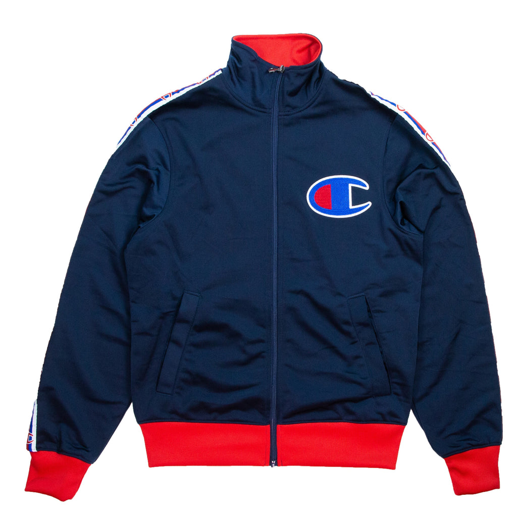 Champion Men's Navy Side Tape Track Jacket