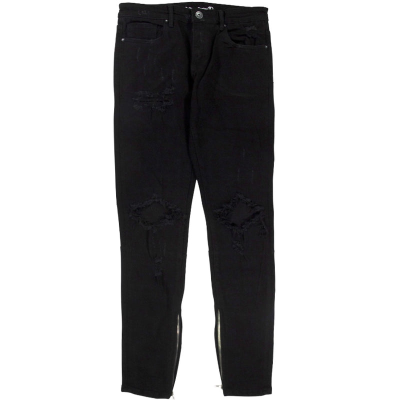 Crysp Pacific Denim Jean 'Black Ripped'