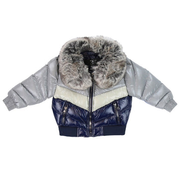 Jordan Craig Kids Sugar Hill Nylon Puffer Jacket Navy/Grey