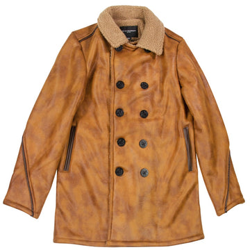 Cult Of Individuality Vintage Brown Peacoat