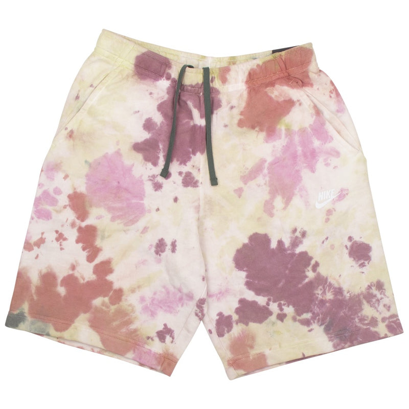 Nike Tie Dye Fleece Maroon Shorts