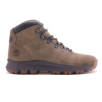 Timberland Men's World Hiker Mid Boot Green Seude