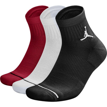Air Jordan High Intensity Tri Color 3 Pack Ankle Socks