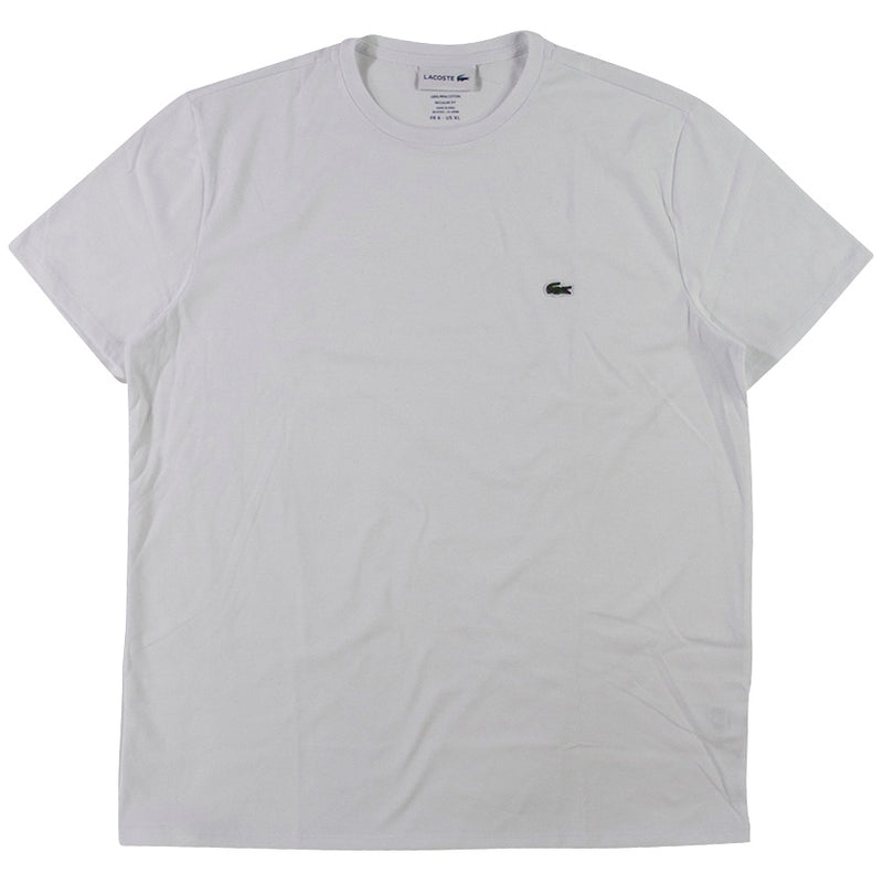 Lacoste White Pima Cotton Jersey T-Shirt