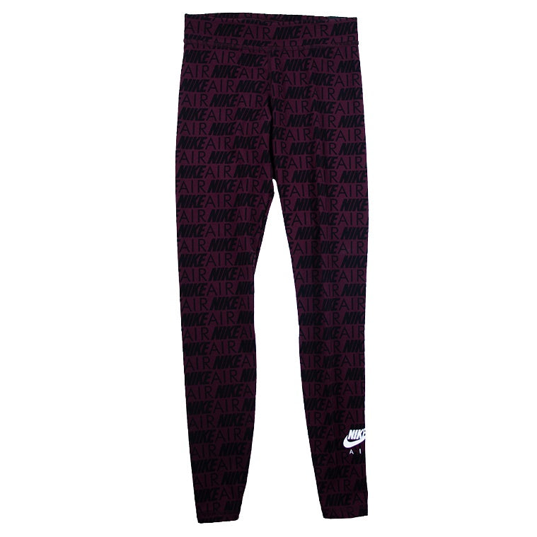 Nike Air Women's Burgundy Printed Leggings