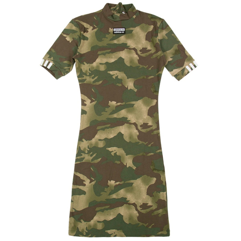 Adidas Originals Allover Print Camo Tee Dress