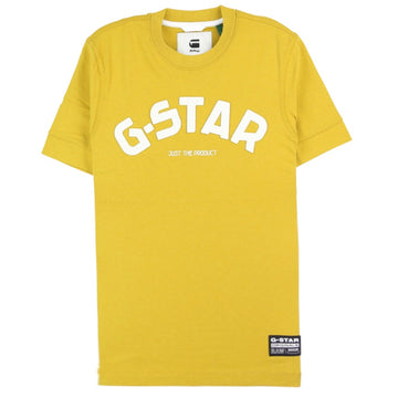 G-Star Felt Applique Logo Slim Green T-Shirt