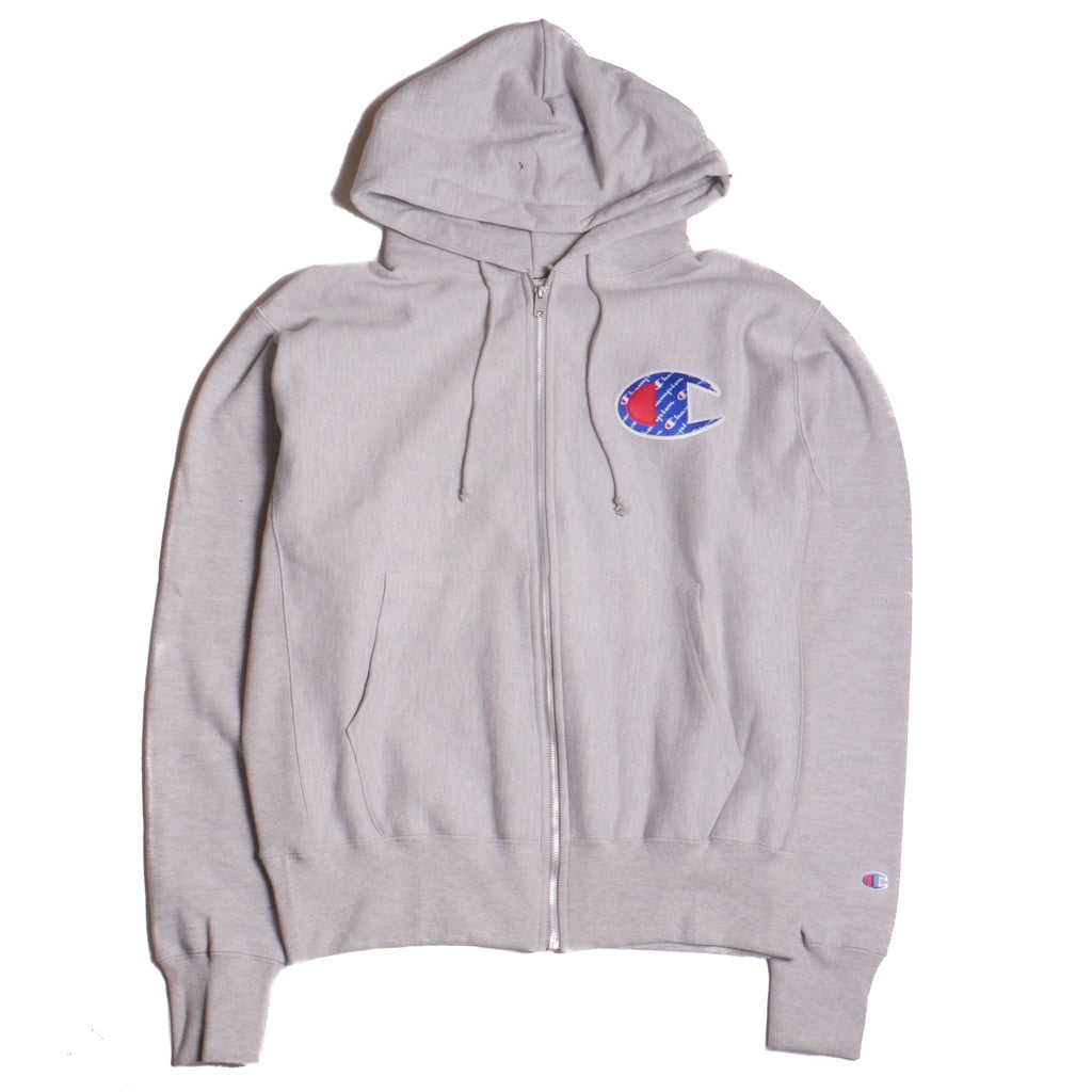 Champion Grey Full Zip Hoodie
