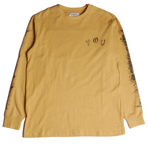 Lifted Anchors Mustard Flyer Long Sleeve T-Shirt
