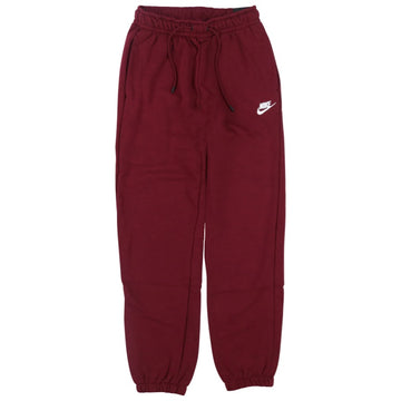 Nike Women's Essential Fleece Burgundy Pants