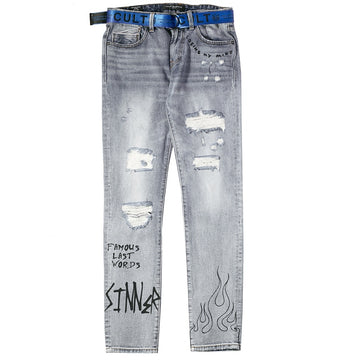 Cult Of Individuality Belted Rocker Slim Global Nomad Jeans