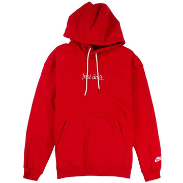 Nike Sportswear Red 'Just Do It' Pullover Hoodie