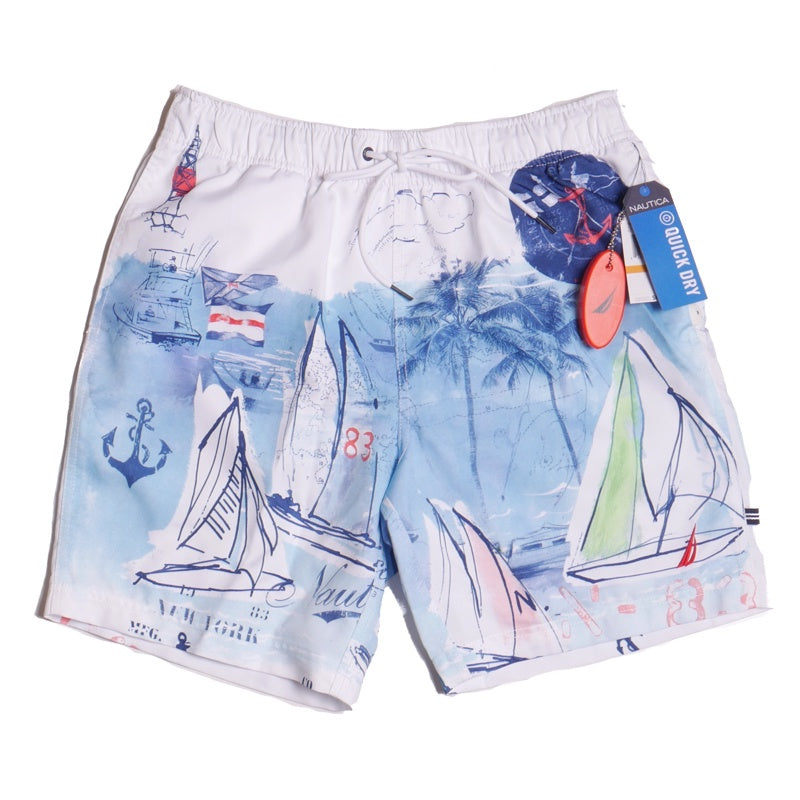 Nautica Quick Dry Seascape Swim Shorts