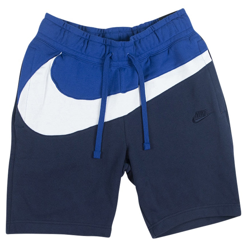 Nike Blue Large Swoosh Fleece Shorts