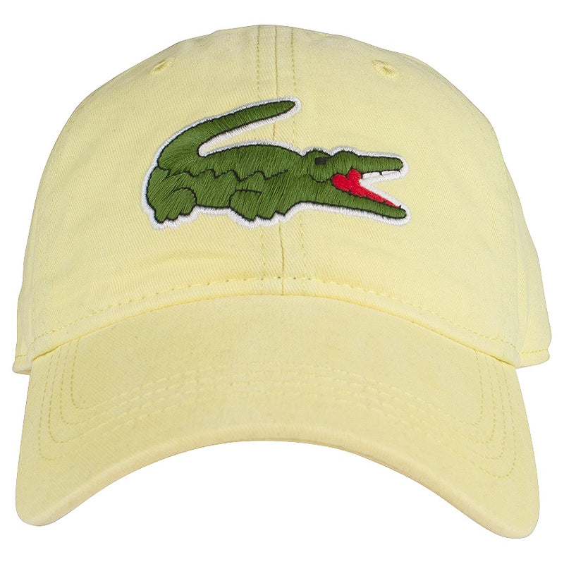 Lacoste Yellow Big Croc Gabardine Cap