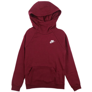 Nike Women's Sportswear Essential Funnel-Neck Burgundy Hoodie