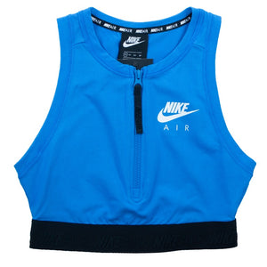 Nike Air Women's Half-Zip Light Blue Crop Top