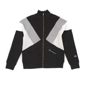 Champion Reverse Weave Colorblock Black Track Jacket