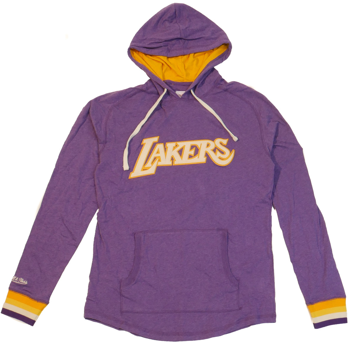 buy online bf4b0 f0e08 Mitchell & Ness NBA Lightweight Los Angeles Lakers Hoodie