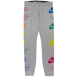 Nike Women's Sportswear Grey Leg-A-See Leggings