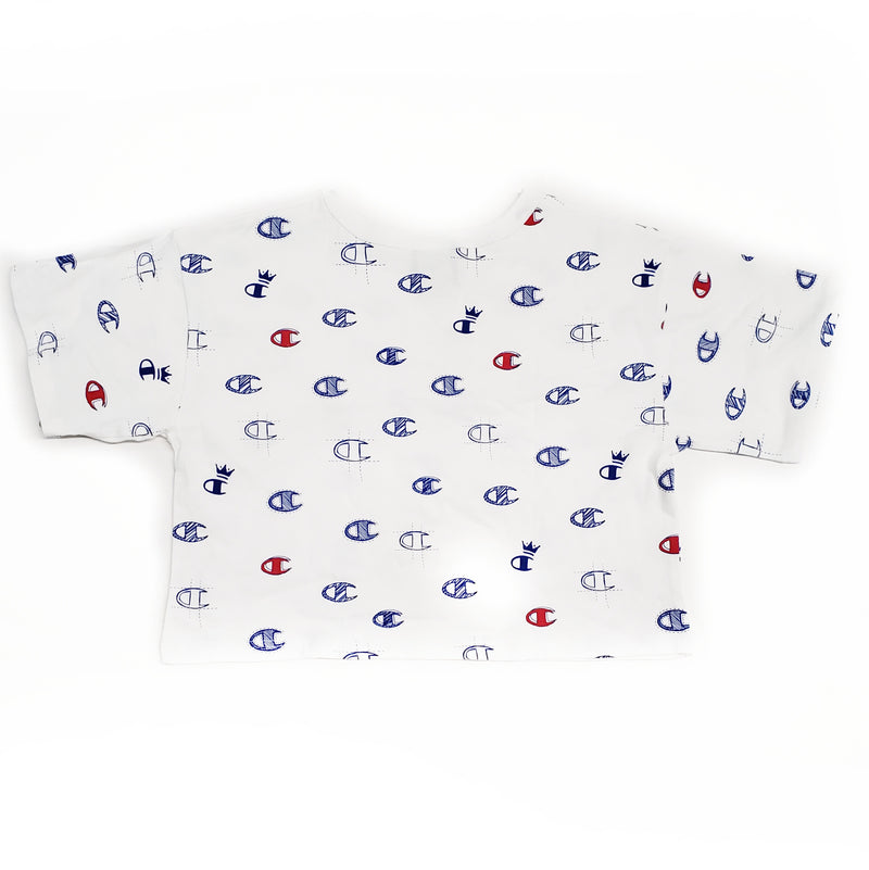 Champion White Crop T-Shirt C's All Over
