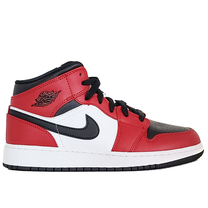 Air Jordan 1 Mid (GS) 'Black Toe'