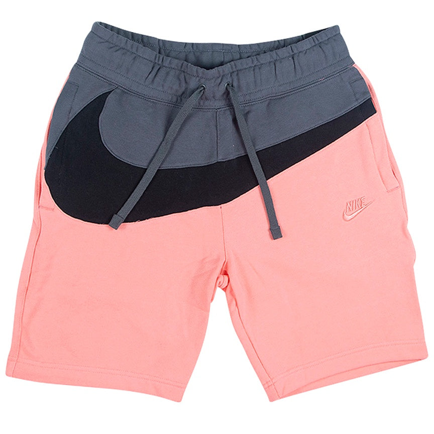 Nike Pink Large Swoosh Fleece Shorts
