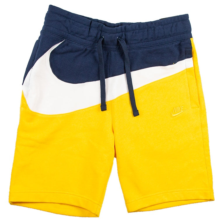 Nike Men's Large Swoosh Yellow Shorts