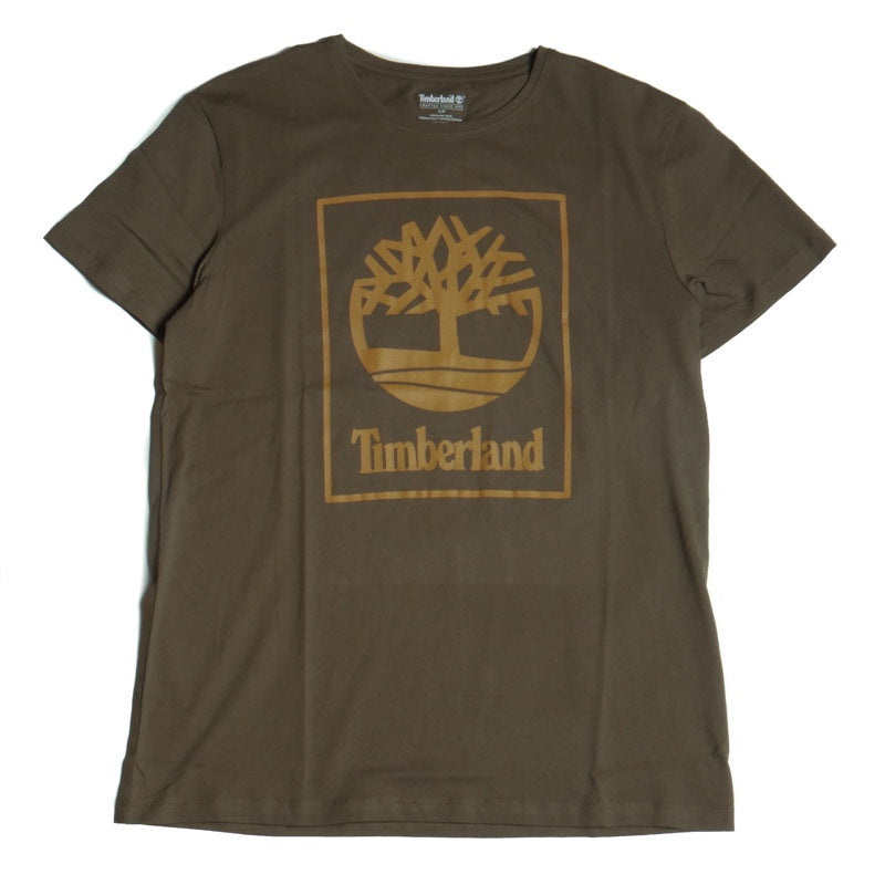 Timberland Men's Olive Seasonal Logo Tree T-Shirt