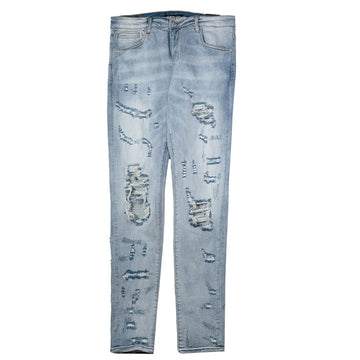 Embellish Rip & Repair Denim Jeans