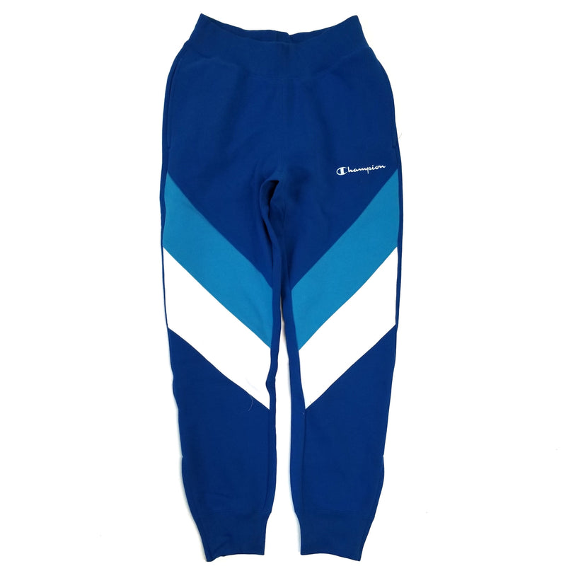 Champion Reverse Weave Blue Colorblock Track Pant