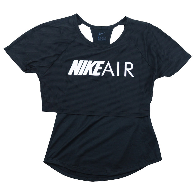 Nike Air Women's Black Graphic Running Top