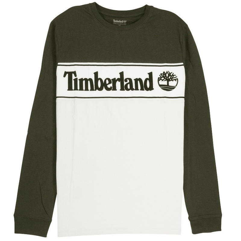Timberland Cut & Sew Linear Logo Green T-Shirt