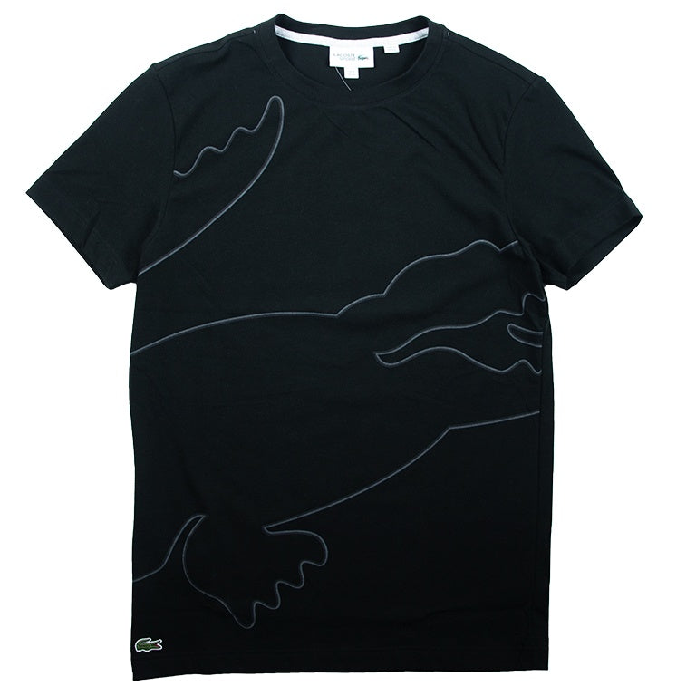 Lacoste Black Crew Neck Tech Jersey T-shirt