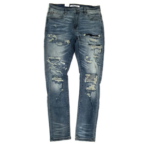 Embellish Darleen Denim Blue Distressed Jeans