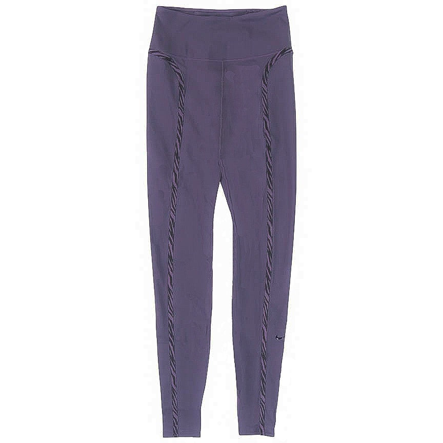 Nike Women's One Luxe Icon Clash Purple Leggings