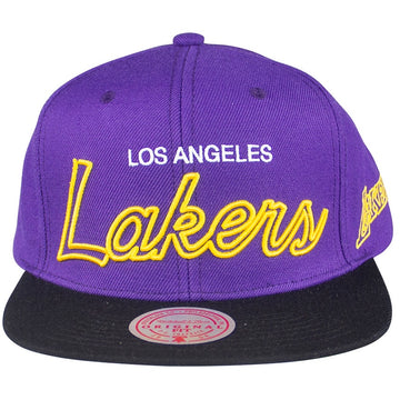 Mitchell & Ness NBA Neon Script Snapback Los Angeles Lakers