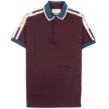 Inimigo Stripe Burgundy Polo