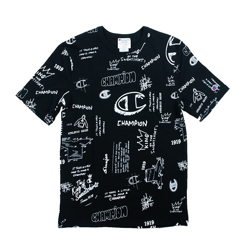 Champion Heritage Scribble Script Black T-Shirt