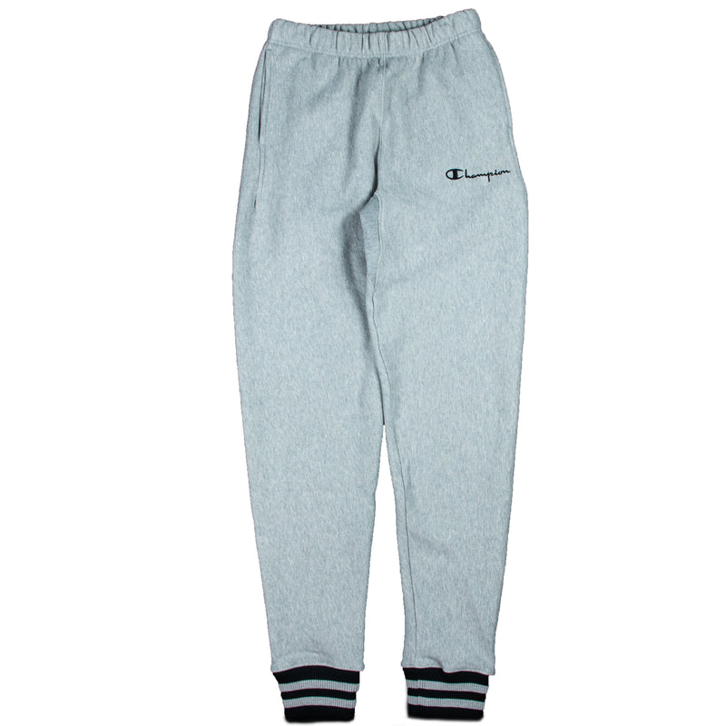 Champion Reverse Weave Yarn Dyed Grey Cuff Sweatpants